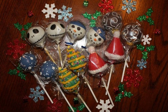 Christmas Cake Pops Sampler Pack - one dozen total (shipped December 19th)