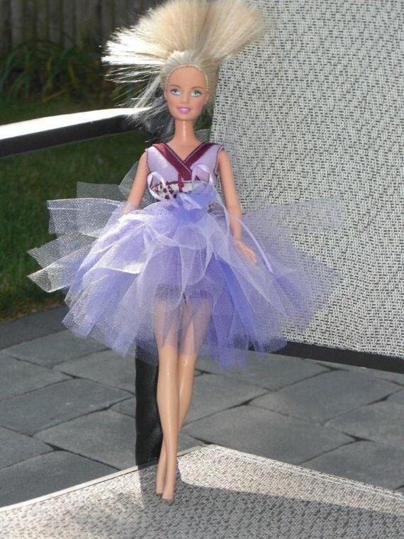 Handmade Barbie Clothes - Purple & Lavender Tutu for Barbie