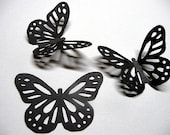 30 LARGE Black BUTTERFLY  Die Cuts,  MONARCH Lace Butterfly Embellishments, Wedding Paper Confetti, Birthday  Decoration by EnchantedForest7