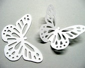 30 Large White Lace BUTTERFLY Die Cuts, MONARCH Butterfly Baby Shower Embellishments, Paper Confetti, Wedding Decoration, Birthday Cutouts