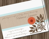Printable DIY housewarming invitation bridal shower or birthday party invite 4x6 or 5x7 inch