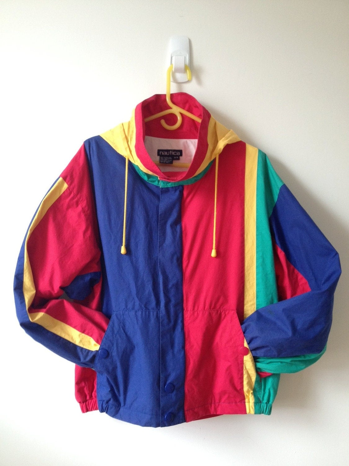 80s Vintage Clothing In The Uk Just Got Easier: Vintage 80s 90s Nautica Color Block Jacket With Hood M L Xl