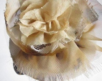 Fascinator with Lace and Leopard