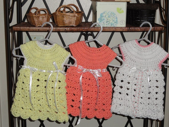 Fast and Easy Going Home Dress Crochet Pattern Size 0-3 Months