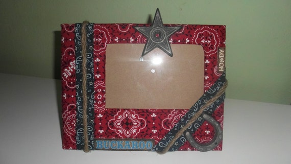 Children's Custom Made Western Themed Picture Frame