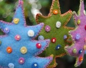 Felted Christmas Ornament Set - made to order