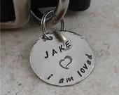 i am loved - Nickel Silver Pet ID Tag