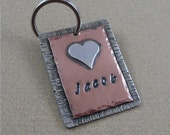 Pet ID Tag with Sterling Silver Heart