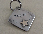 Pet ID Tag - Nickel Silver Dog Tag with Brass Star
