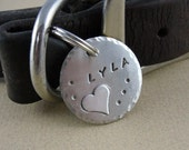 Custom Dog Tag - Sterling Silver Heart