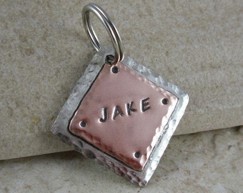 Mixed Metals Pet ID Tag - Custom Dog Tags
