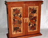 Necklace cabinet made in Cherry