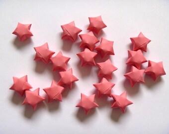 100 Origami Stars - Cherry Pink