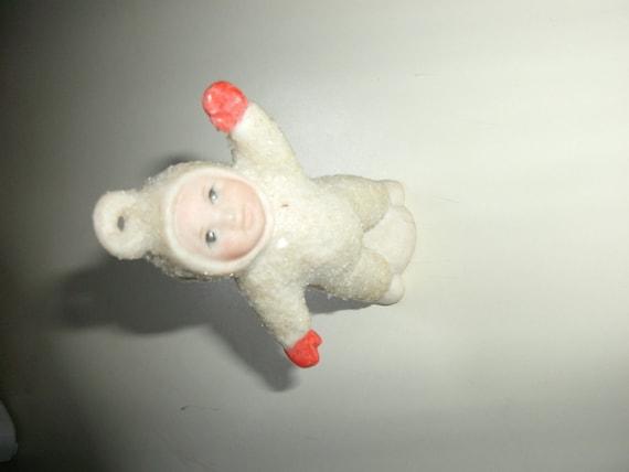Porcelain doll Christmas Ornament, vintage