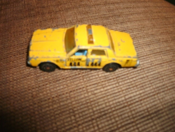Majorette vintage toy car, Made in France, Cherolet Impala, Yellow car