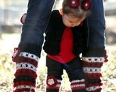Foxy Loxy -- Momma and Little Diva Leg Warmer Set -Made to Order