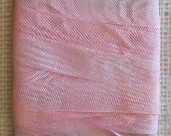 Hand Dyed Seam Binding Ribbon 5 yds Pale Pink
