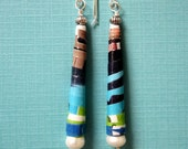 Recycled Paper Earrings - Sassy Blue Bell