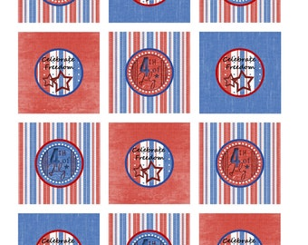 celebrate freedom decorative toppers print yourself file