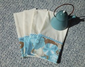 4 Dish Towels, Tea Towels, Farmhouse Kitchen