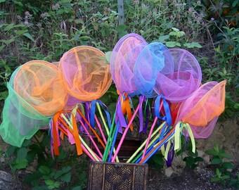 Critter Catcher Nets, Birthday Favors, Fairy Catchers, Butterfly Nets, Bug Catchers, Fish Nets