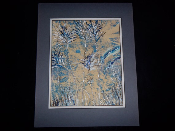 Original Illustration Abstract Painting 8x11 Off the Path