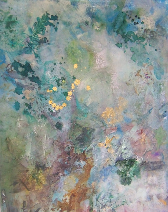 Original Acrylic Abstract Painting Natures Dance by Sheri  24x30x1