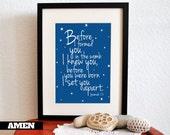 Jeremiah 1:5. Set You Apart. 8x10 DIY Printable Christian Poster.Bible Verse.
