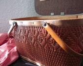 Vintage Red Man picnic basket