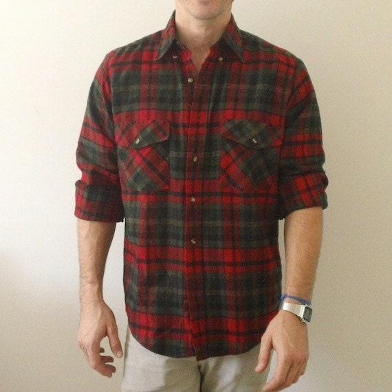 Items Similar To Plaid Work Shirt Men 39 S Medium Red And