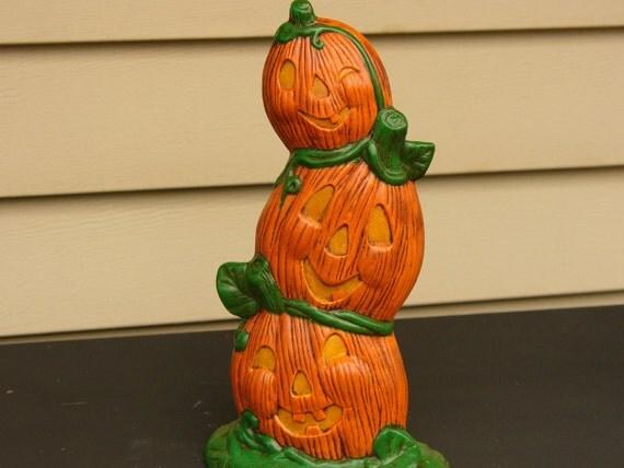 Three Flat Pumpkins