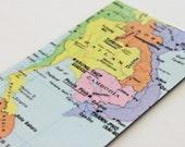 OOAK Vietnam Thailand Cambodia Laos Map Travel Atlas Magnet