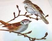 Upcycled Big Fatty Bookmark Sparrow Birds 2