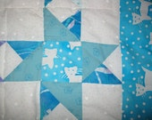 Lap Quilt Kitty Stars - Reserved for Mary Theresa