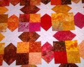 Lap Quilt Batik Stars SALE
