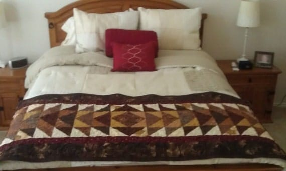 Earth Tone Bed Runner