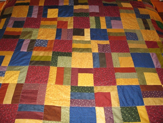 "Full / Twin  Size Quilt Reversible 72"" square - SALE SALE SALE"