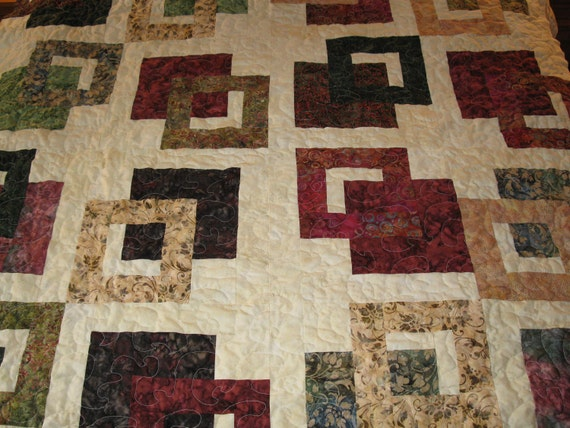 "Twin Sized Squares Quilt - 64"" square"