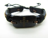 fashion Adjustable leather Cotton Rope Woven Bracelets mens bracelet cool bracelet jewelry bracelet bangle bracelet  cuff bracelet 759S