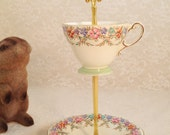 Teacup Stand May Flowers in Bloom