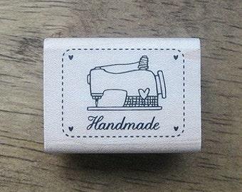 SP13,Vintage Sewing Machine Stamp - 40x30mm