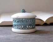 Marble decorative can, Vintage collectible can from Italy