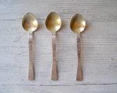 Vintage Teaspoons, Silver tone teaspoons made in USSR