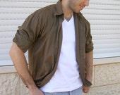 Brown man's shirt, Khaki brown shirt, Vintage 90s