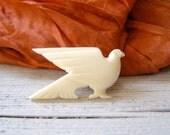 Ivory Dove Brooch,  Vintage ivory brooch