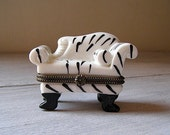 Miniature Porcelain Sofa can ,Vintage Victorian Style collectible,  Fine Porcelain can,  Listed by MeshuMaSH on Etsy