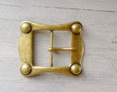 Vintage Copper Buckle, Unisex Belt Buckle