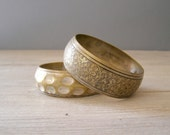 Vintage Copper Bangles, Boho chic chunky Bracelets