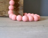 Retro Pink Necklace, Bubble-Gum chunky Necklace