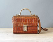 Retro Leather handbag, Vintage Brown Purse